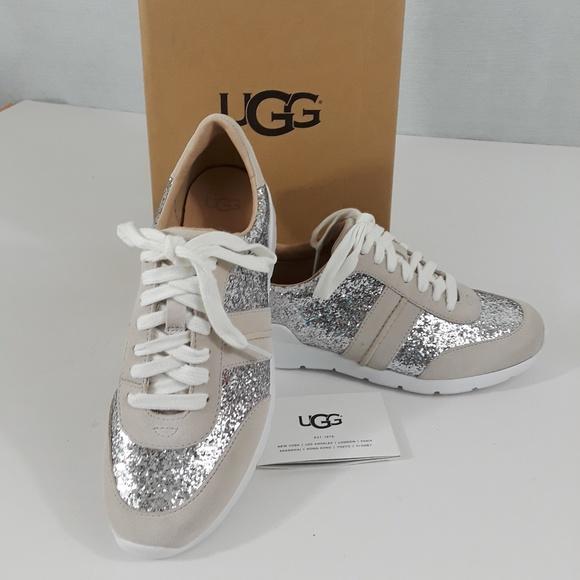 a431e628d58 UGG Jaida Glitter Suede Sneaker - sz 6 NIB NWT